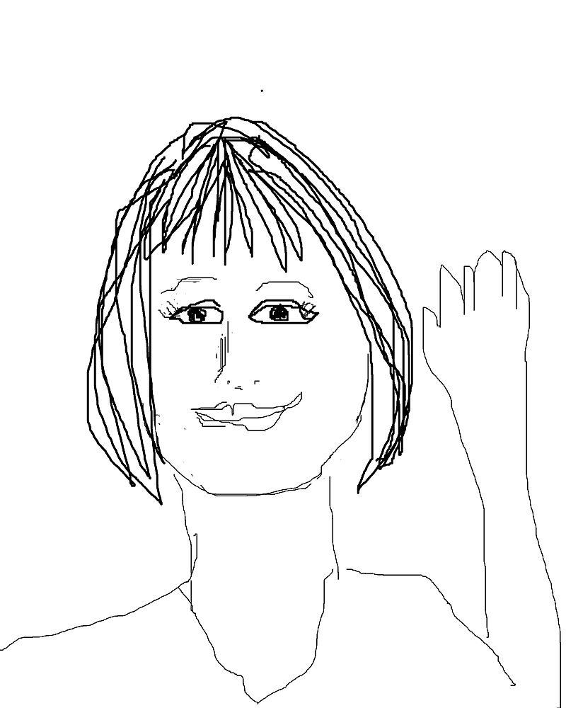 Self portrait waive