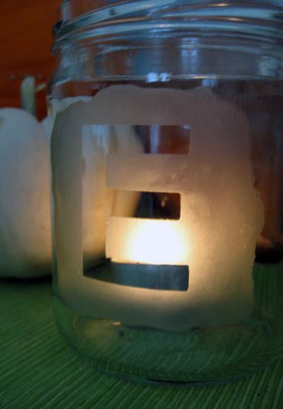 Etched jar