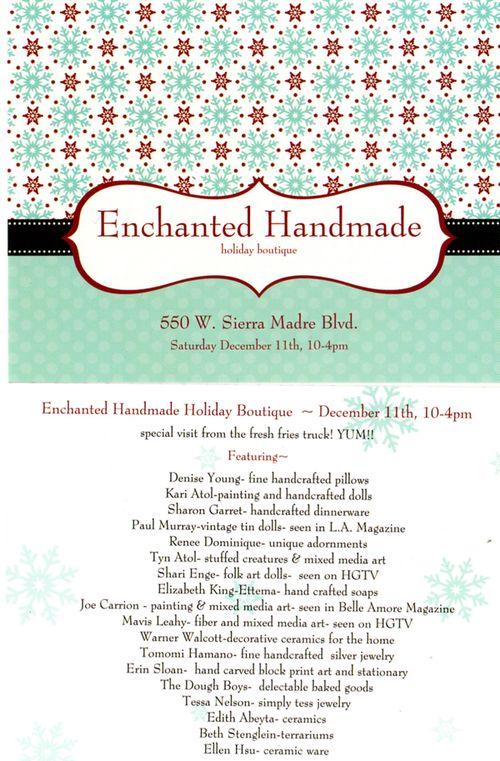 Enchanted handmade flyer